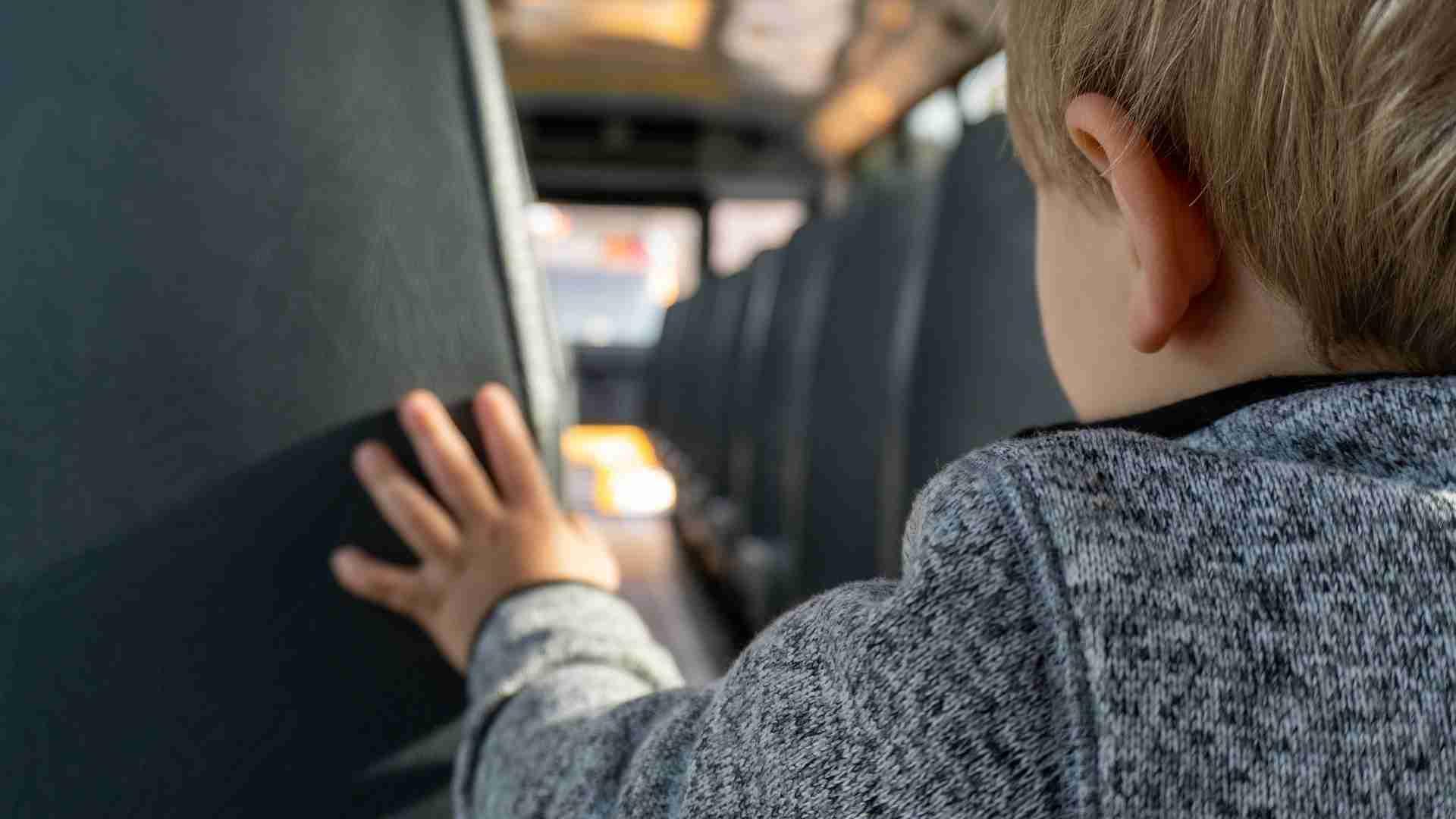 Child on a school bus