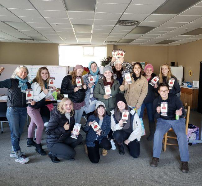 CVI staff with election pamphlets