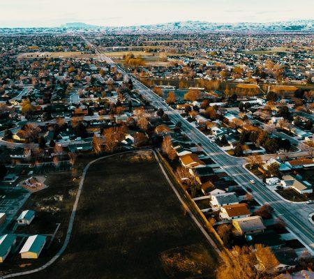 Aerial shot of Meridian, Idaho